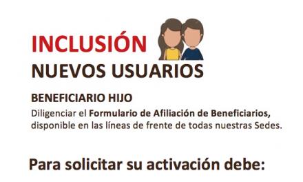 Inclusión Nuevos Usuarios