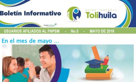 Boletín Mayo 2018