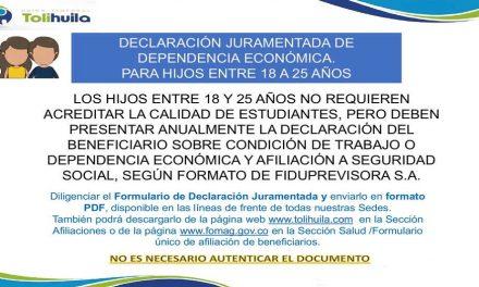 DECLARACIÓN JURAMENTADA