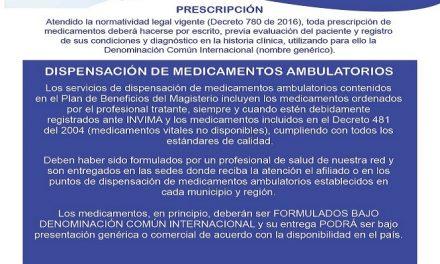 Prescripción y Dispensación de Medicamentos