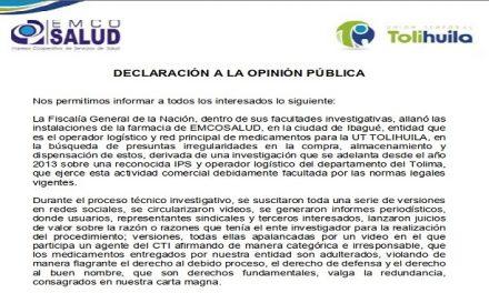 Declaración a la Opinión Publica
