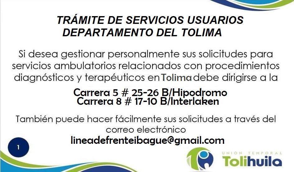 Trámite servicios Tolima