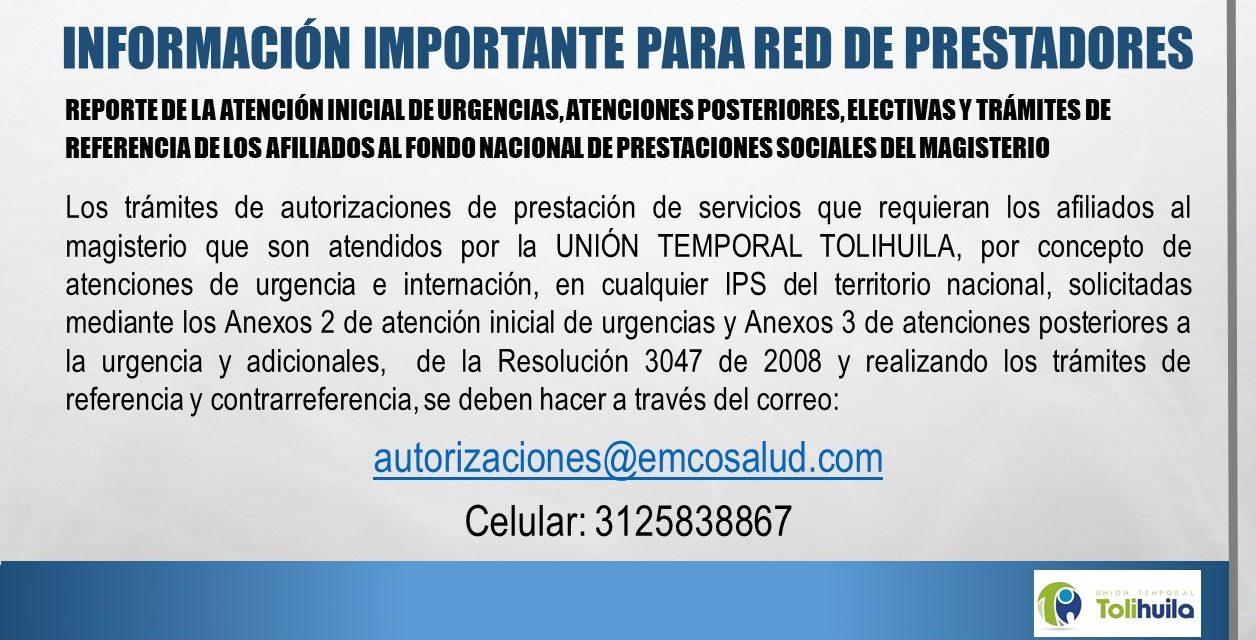 REPORTE INICIAL DE URGENCIAS