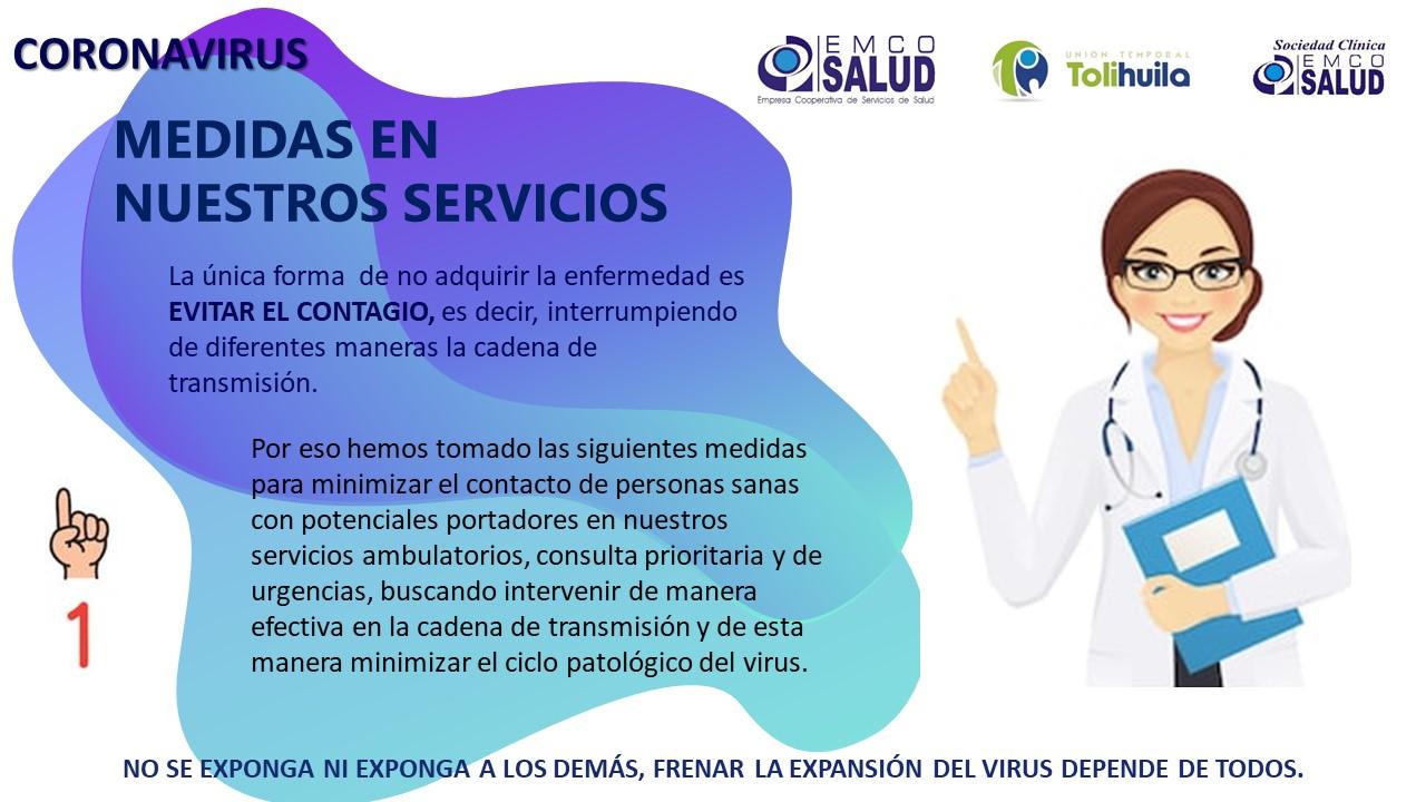 Coronavirus – Medidas en nuestros servicios