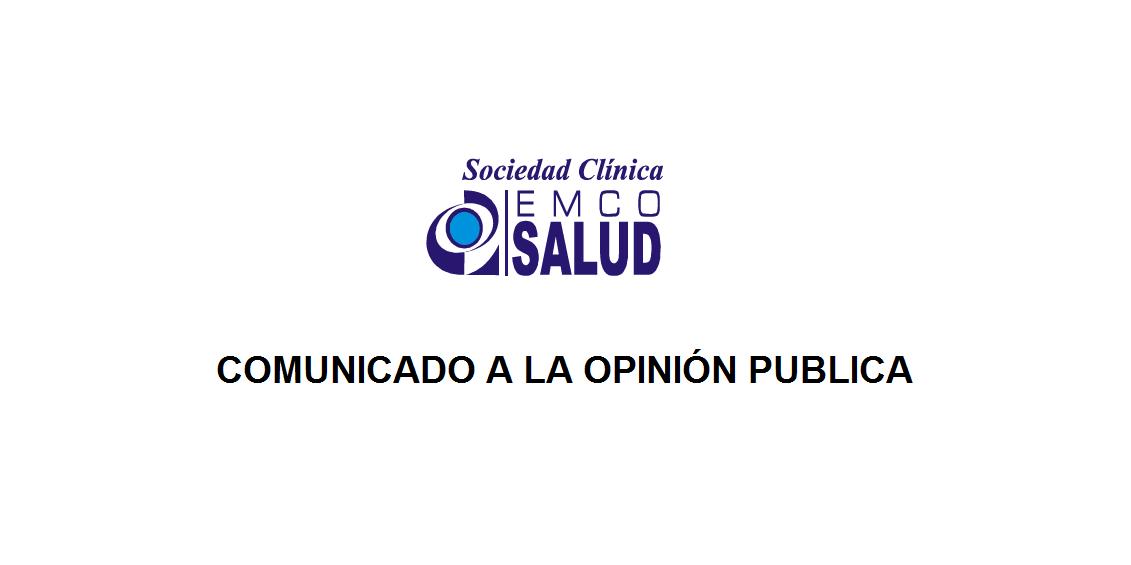 Comunicado a la opinion publica