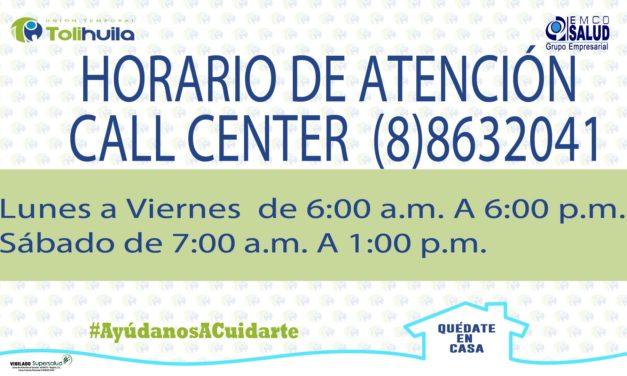 Horario Atención Call Center