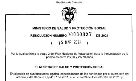 RESOLUCIÓN 327 DE 2021