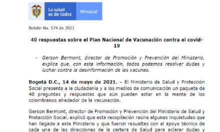 40 RESPUESTAS SOBRE EL PLAN NACIONAL DE VACUNACIÓN CONTRA EL COVID-19