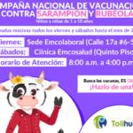 CAMPAÑA NACIONAL DE VACUNACIÓN CONTRA SARAMPIÓN  Y RUBÉOLA