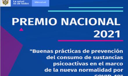"""PREMIO NACIONAL A LA """"ENTIDAD COMPROMETIDA CON LA PREVENCIÓN DEL CONSUMO, ABUSO Y ADICCIÓN A LAS SUSTANCIAS PSICOACTIVAS""""."""