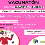 PROTEGE A TUS NIÑOS DEL SARAMPIÓN Y LA RUBÉOLA